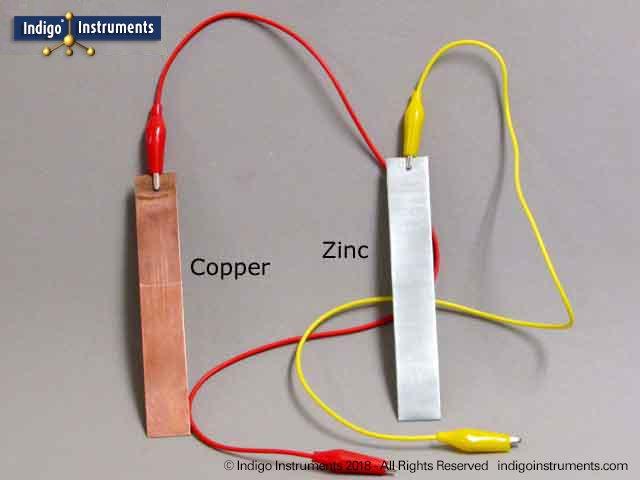 Lemon Battery Copper Zinc Electrodes