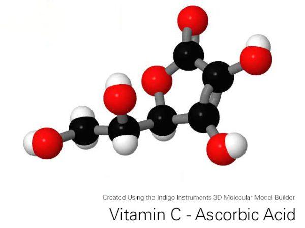 Indigo 3D Molecular Model Builder for Vitamin C