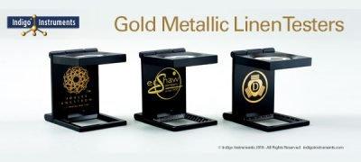 Gold metallic ink logo printers loupes