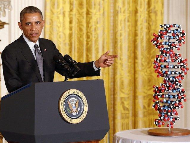 Precision Medicine Initiative 17 Base Pair DNA Molecular Model