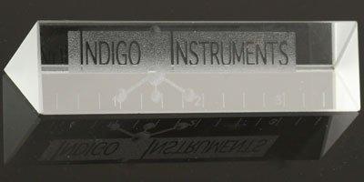 indigo laser etched prism