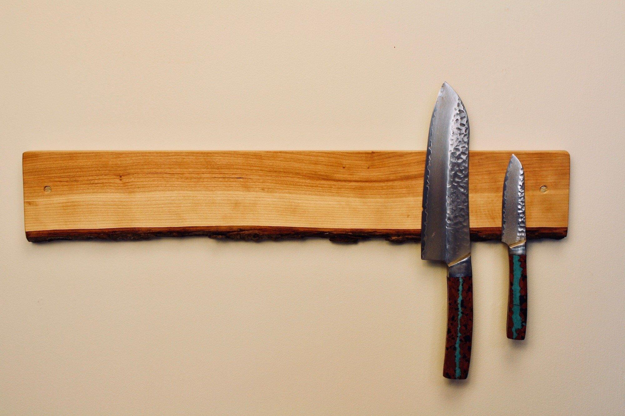 Neodymium Magnet Knife Holder Wood