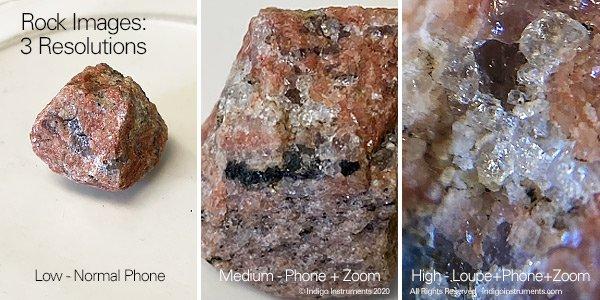 Phone Camera Loupe Magnified Rocks